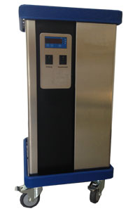 Minitron Chiller mtt2012 provides the cooling. The system takes out the heat.