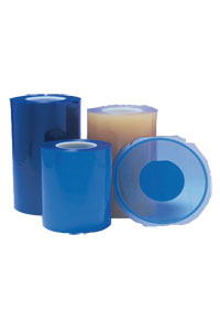 ULTRON pressure sensitive film is mostly based on PVC and silicone free. The Blue Tapes are free of silicone release agents.